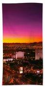 City - Vegas - Ny - Sunrise Over The City Beach Towel