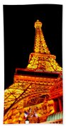 City - Vegas - Paris - Eiffel Tower Restaurant Beach Towel