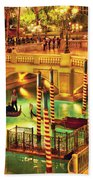 City - Vegas - Venetian - The Venetian At Night Beach Towel