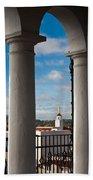 City Viewed Through From The Santa Beach Towel