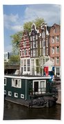 Cityscape Of Amsterdam Beach Towel