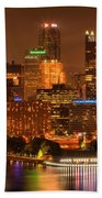 Cityscape Of Color Beach Towel