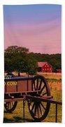 Civil War Caisson At Gettysburg Beach Sheet