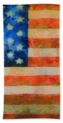 Civil War Flag Beach Towel by Dan Sproul