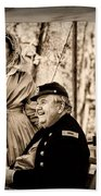 Civil War Officer And Wife Beach Towel