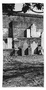 Civil War Wall Of Tombstones Savannah Georgia Beach Towel