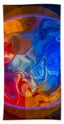 Clarity In The Midst Of Confusion Abstract Healing Art Beach Towel