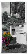 Clark House Flowers 2 Beach Towel