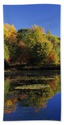 Clark Pond - Auburn New Hampshire  Beach Towel