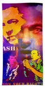 Clash Know Your Rights Beach Towel