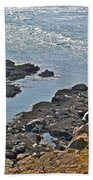 Clashing Tides At Tip Of Cape D'or-ns Beach Towel