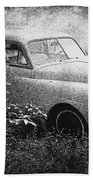 Clasic Car - Pen And Ink Effect Beach Towel