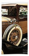 Classic 1928 Ford Model A Sport Coupe Convertible Automobile Car Beach Towel