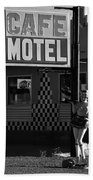 Classic 50s Motel Cafe Beach Towel