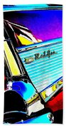 Classic 57 Chevy Art Beach Towel