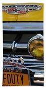 Classic New York City Cab - Detail Beach Towel