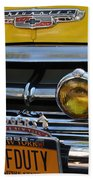 Classic New York City Cab - Detail Beach Sheet