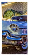 Classic Blue Caddy At Night Beach Towel