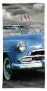 Classic Blue Chevy Beach Towel