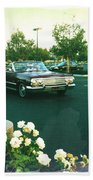 Classic Car Family Outing Beach Towel