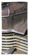 Classic Car With Rust Beach Towel