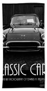 Classic Cars Front Cover Beach Towel
