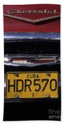 Classic Chevy In Cuba Beach Towel