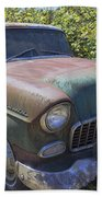 Classic Chevy With Rust Beach Towel