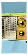 Classic Clock Radio Beach Towel