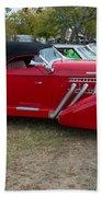 Auburn 1936 Roadster Classic Elegance Beach Towel