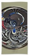 Classic Engine Orb Abstract Beach Towel