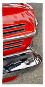 Classic Impala In Red Beach Towel