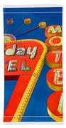 Classic Old Neon Signs Beach Towel