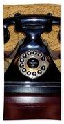 Classic Rotary Dial Telephone Beach Towel