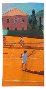 Clay Court Tennis Beach Towel