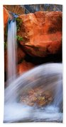 Clear Creek Falls Beach Towel by Inge Johnsson