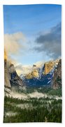 Clearing Storm - Yosemite National Park From Tunnel View. Beach Towel