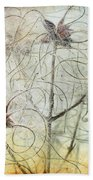 Clematis Virginiana Seed Head Textures Beach Towel