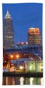 Cleveland Blue Hour Panoramic Beach Towel
