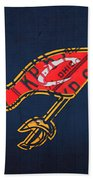 Cleveland Cavaliers Nba Team Retro Logo Vintage Recycled License Plate Art Beach Towel