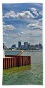 Cleveland Harbor  Beach Towel
