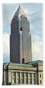 Cleveland Key Bank Building Beach Towel