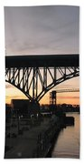 Cleveland Ohio Flats At Sunset Beach Towel