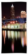 Cleveland Panoramic Reflection Beach Towel