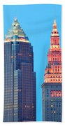 Clevelands Iconic Towers Beach Towel