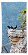 Cliff Hanging Beach Towel