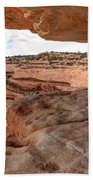 Cliff Overhang In Southwest Sandstone Canyon - Utah Beach Towel by Gary Whitton
