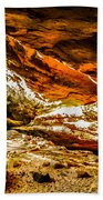 Cliff Rocks And Waterfall Beach Towel