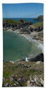 Cliffs In Bretagne Beach Sheet