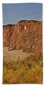 Cliffs Of Cape D'or From A Promontory Over Advocate Bay-ns Beach Towel